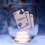 Poker Glass with Name
